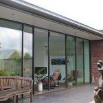 KELLER minimal windows® - Uitbouw met glazen schuifpui