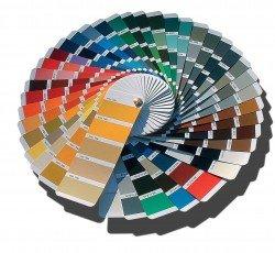 Een volglazen vouwwand is in veel kleuren beschikbaar