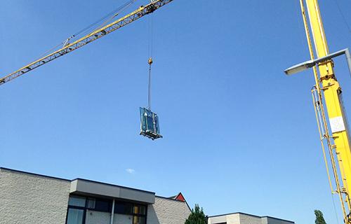 Serre bouw Rotterdam kraan